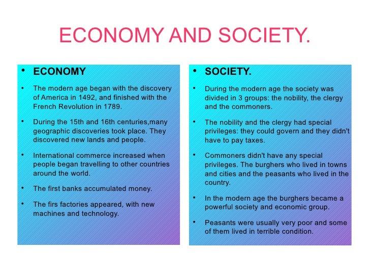 ECONOMY AND SOCIETY.●    ECONOMY                                      ●                                                   ...