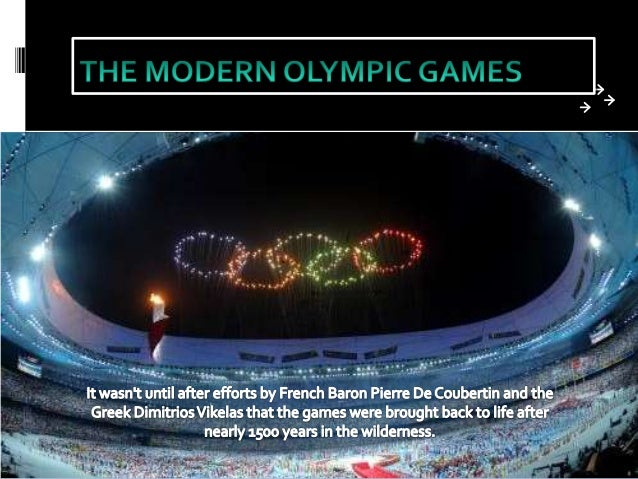 •P. Coubertin believed that sport was a very strong power that could inspire a feeling of unity and peace among the many n...