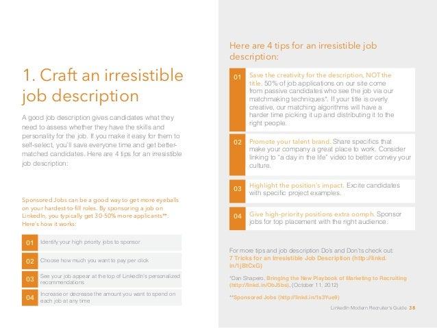 LinkedIn Modern Recruiteru0027s Guide 37; 38.