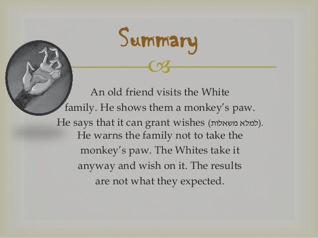 The Monkey's Paw: a unit for teaching the story to advanced junior-hi…