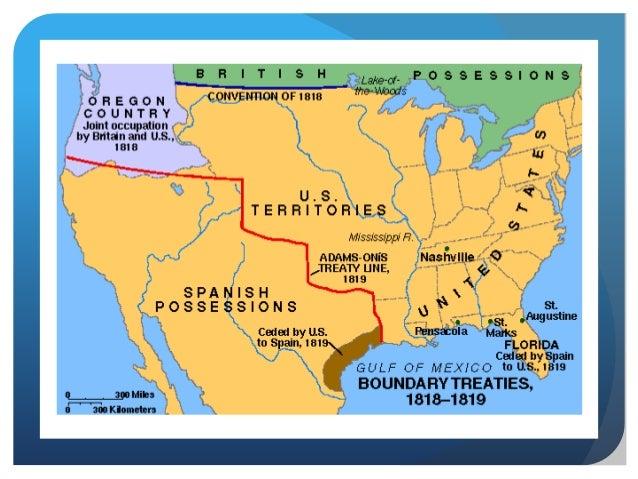 The Monroe Presidency - Us 1818 border map