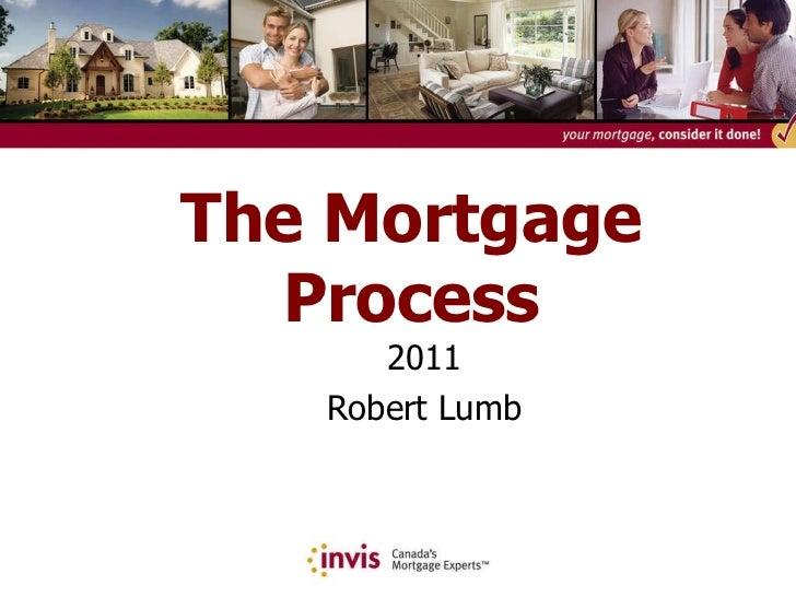 The Mortgage Process 2011 Robert Lumb