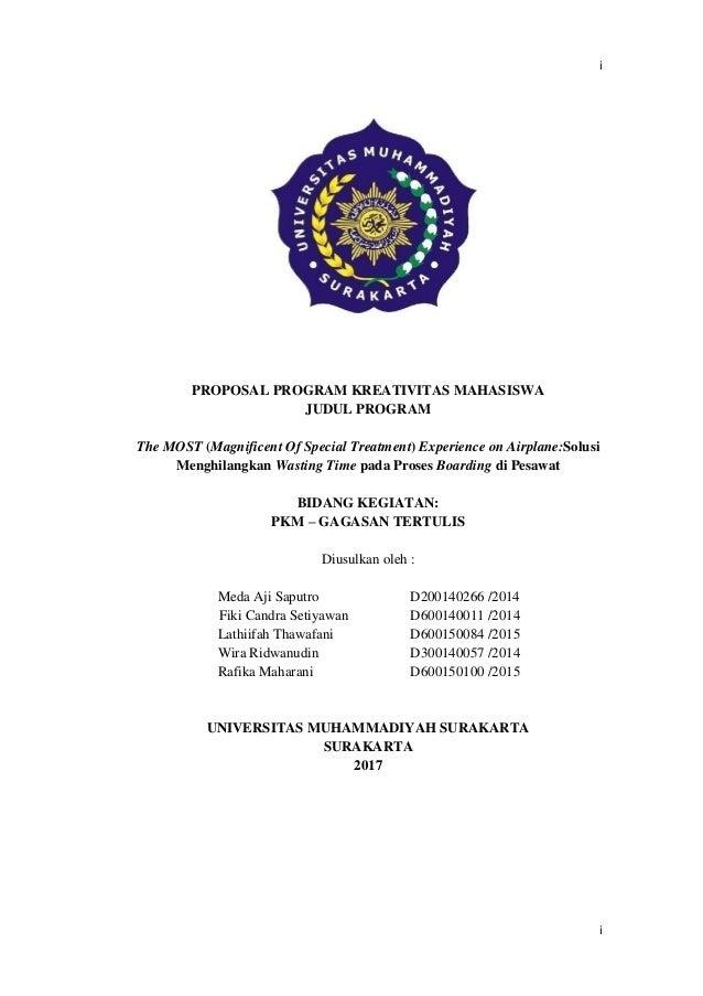 Contoh Proposal Pkm Gagasan Tertulis Pkm Gt Didanai Dikti 2017