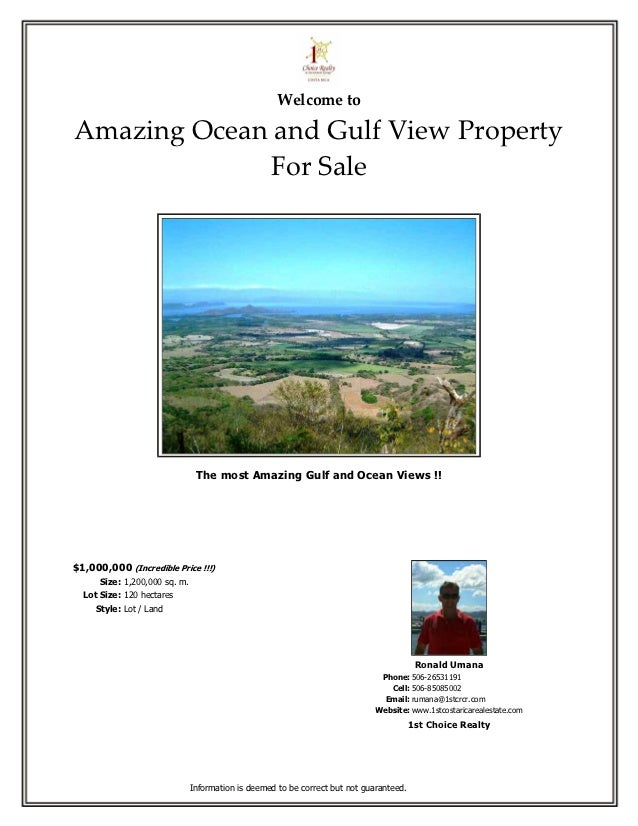 Welcome toAmazing Ocean and Gulf View Property             For Sale                                The most Amazing Gulf a...