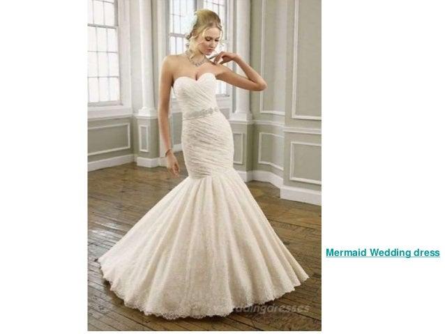 mermaid sweetheart chiffon wedding dress 3