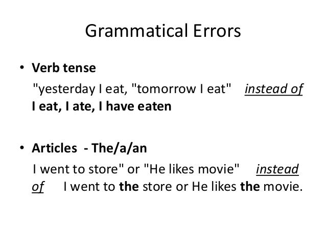 most common grammatical errors in english