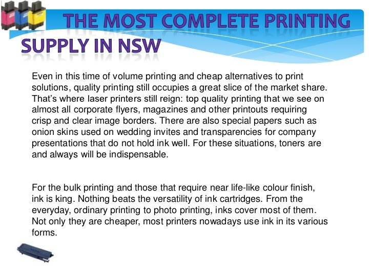 Even in this time of volume printing and cheap alternatives to printsolutions, quality printing still occupies a great sli...