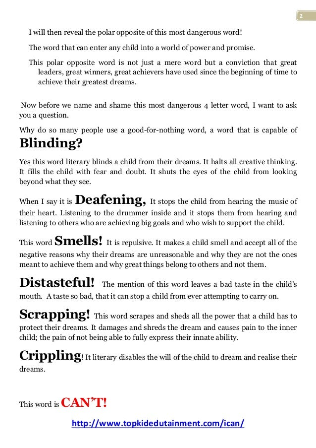Parents Discover The Most Dangerous 4 Letter Word That A Child Can L