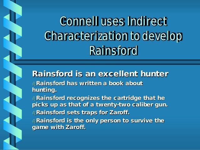 What's the difference between Zaroff and Rainsford in
