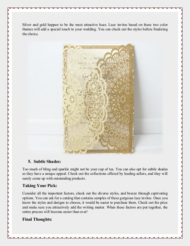 The Most Popular Lace Wedding Invitation Styles Of 2018