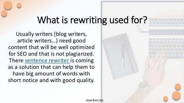 rewrite plagiarized text