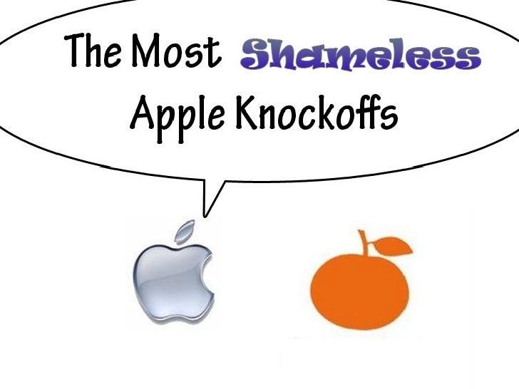 The Most Shameless Apple Knockoffs