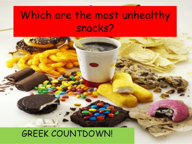 The most unhealthy snacks according to greek students