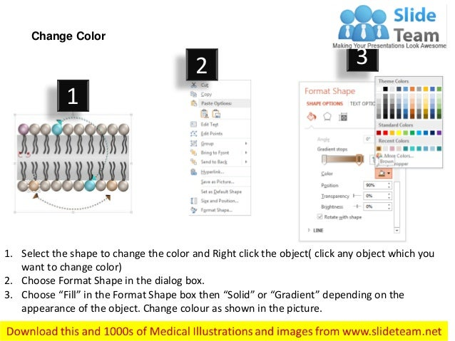 1. Select the shape to change the color and Right click the object( click any object which you want to change color) 2. Ch...