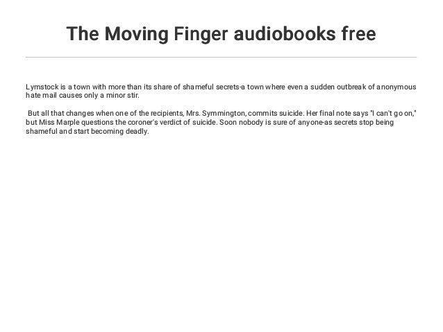 The Moving Finger audiobooks free