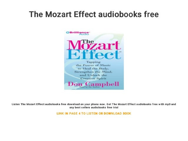 The Mozart Effect audiobooks free