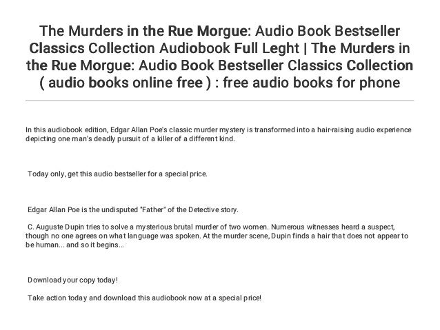 The Murders in the Rue Morgue: Audio Book Bestseller