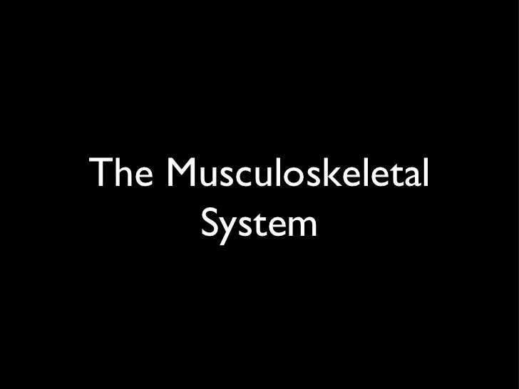 The musculoskeletal system (student version)