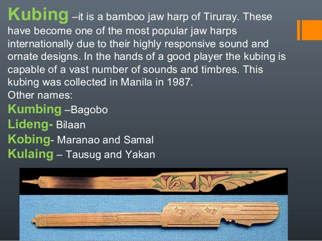 kubing musical instrument of the philippines Heber bartolome singer, musical artist a protest band that carried the trademark sound of the kubing, a native musical instrument in the heber bartolome.