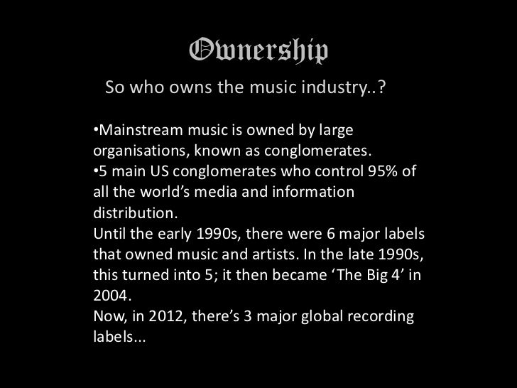 The Music Industry Slide 2