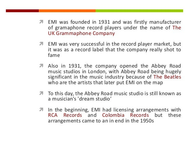 The Music Industry - The Big Four