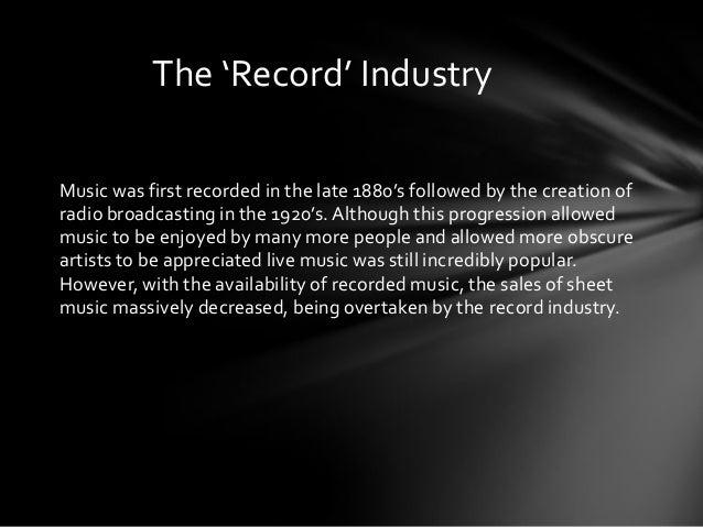The music industry Slide 3