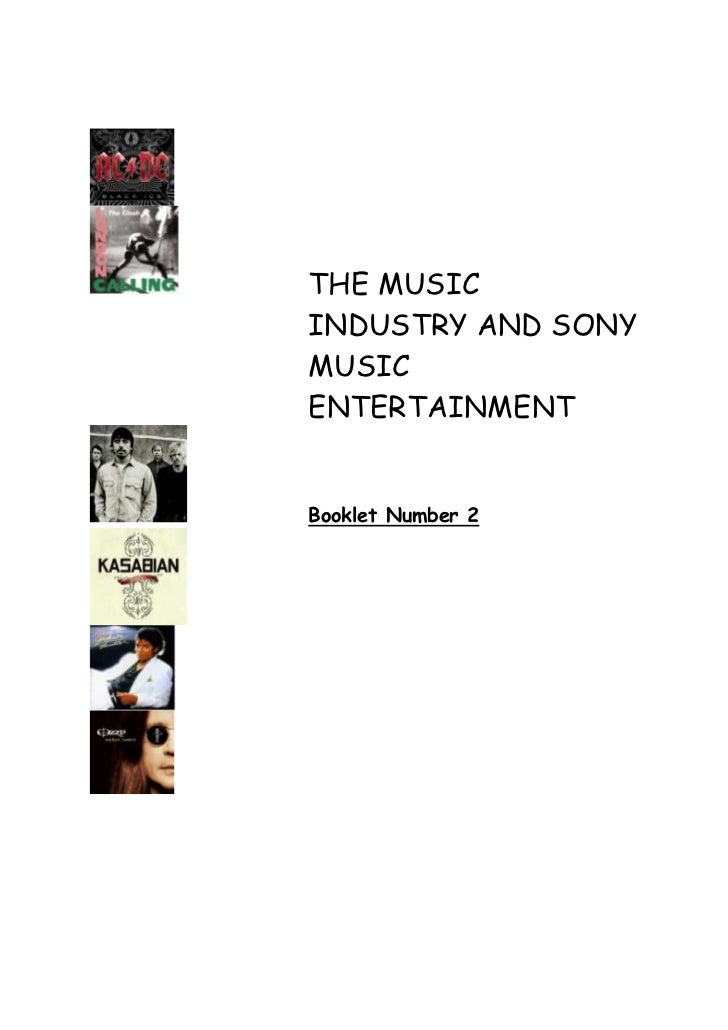 THE MUSICINDUSTRY AND SONYMUSICENTERTAINMENTBooklet Number 2