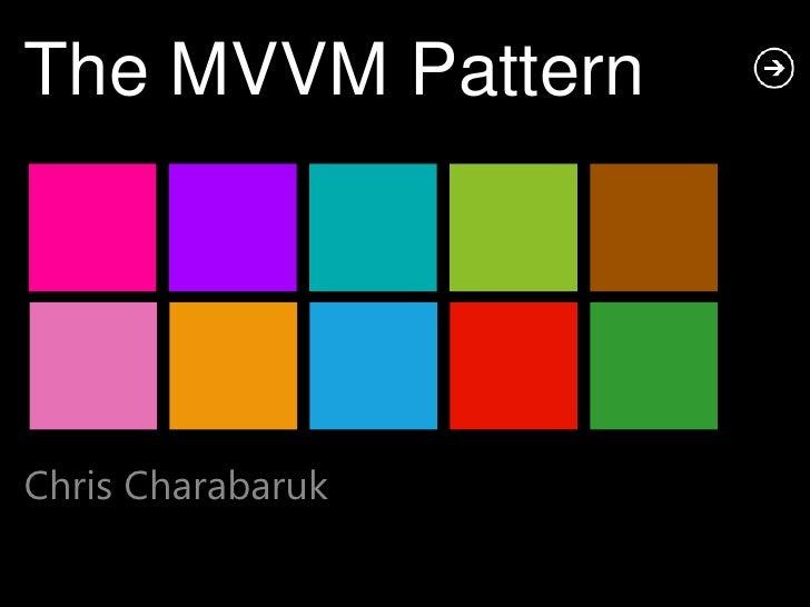 The MVVM PatternChris Charabaruk