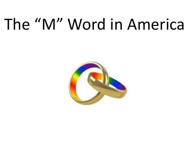 "The ""M"" Word in America"