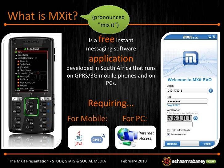 Mxit login online chat