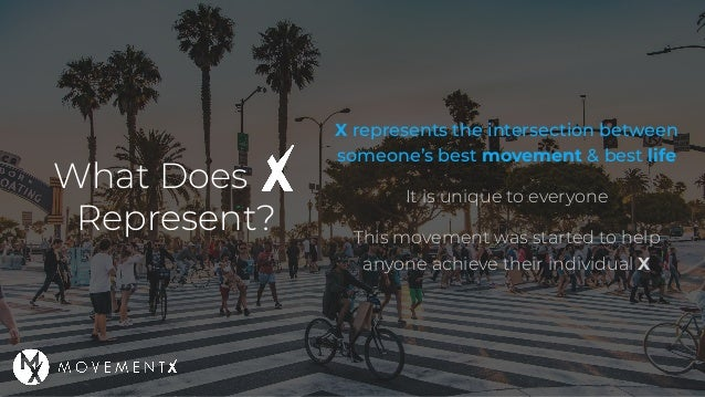 What Does Represent? X represents the intersection between someone's best movement & best life It is unique to everyone Th...