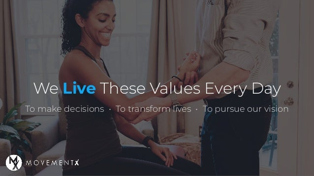 We Live These Values Every Day To make decisions • To transform lives • To pursue our vision