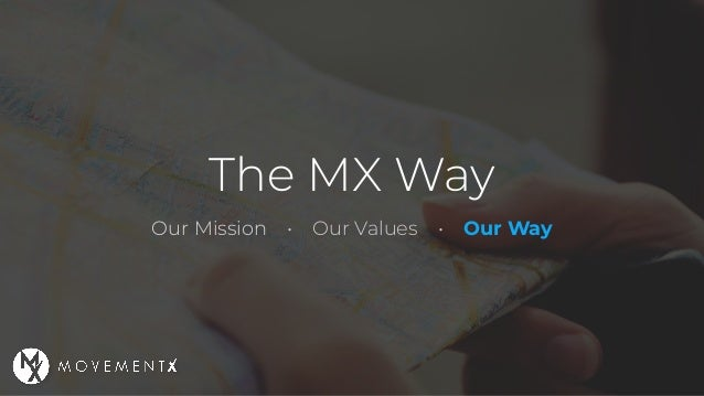 The MX Way Our Mission • Our Values • Our Way