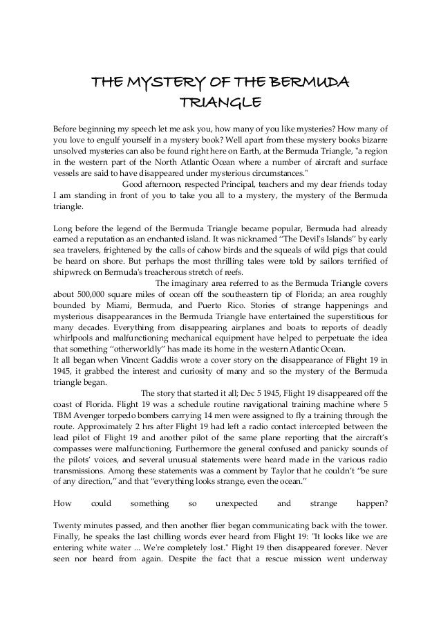 speech on bermuda triangle 1 minute speech on bermuda triangle macbeth internal conflict essay.