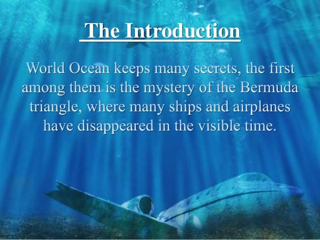 An introduction to the geography of the bermuda triangle