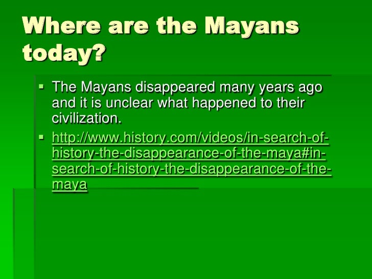 The mystery of the mayans