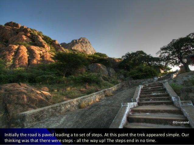 Initially the road is paved leading a to set of steps. At this point the trek appeared simple. Our thinking was that there...