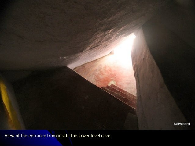 View of the entrance from inside the lower level cave.