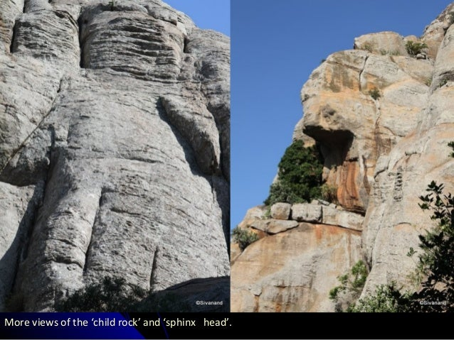 More views of the 'child rock' and 'sphinx head'.