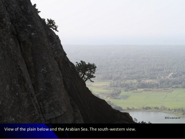 View of the plain below and the Arabian Sea. The south-western view.