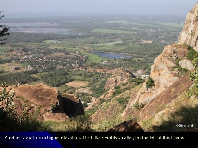 Another view from a higher elevation. The hillock visibly smaller, on the left of this frame.