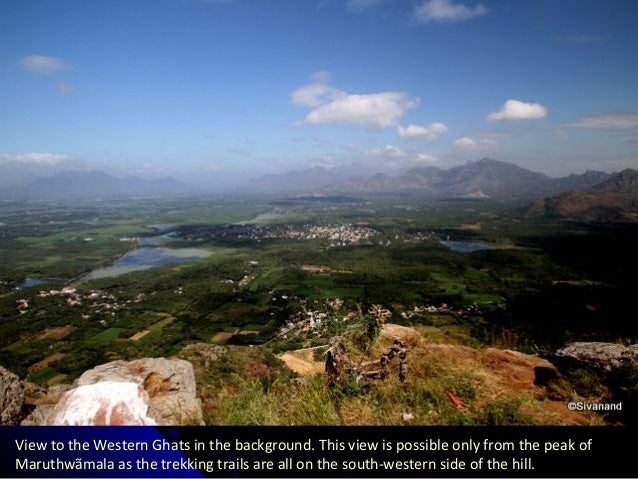 View to the Western Ghats in the background. This view is possible only from the peak of Maruthwãmala as the trekking trai...
