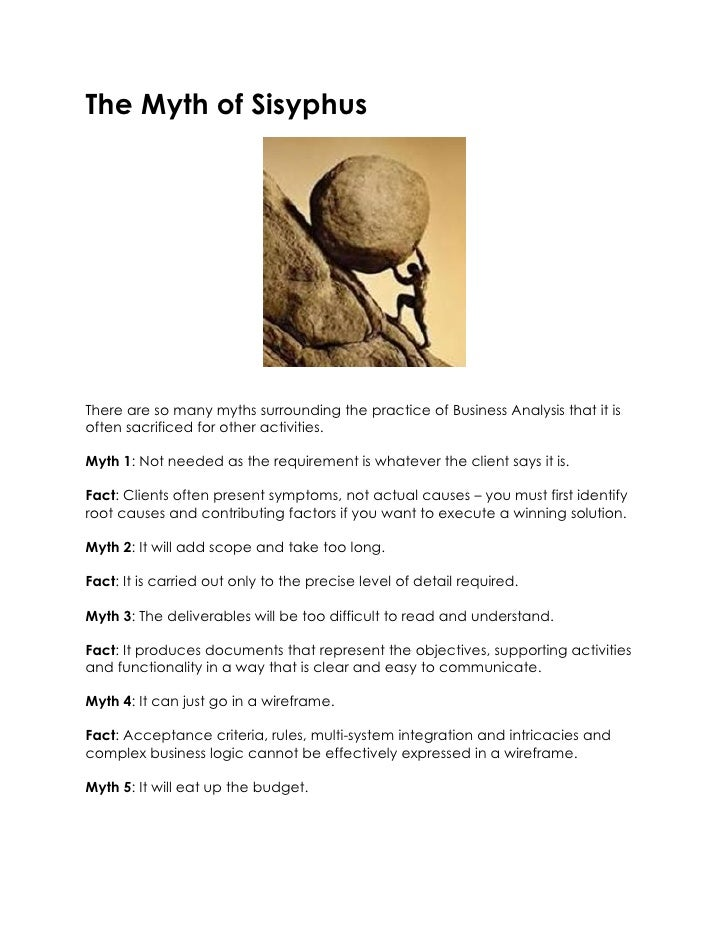 behind the myth of sisyphus essay The myth of sisyphus and other essays has 33,019 ratings seeking to find meaning behind his daily motions of life and failing the title essay is.