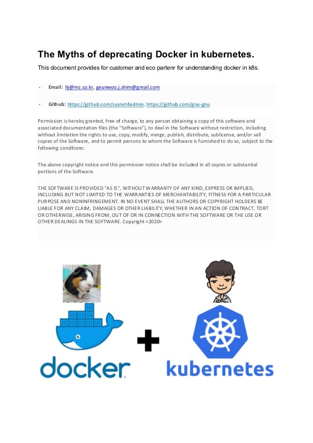The Myths of deprecating Docker in kubernetes. This document provides for customer and eco partenr for understanding docke...