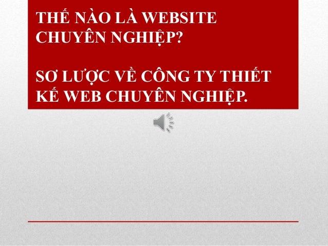 THẾ NÀO LÀ WEBSITE CHUYÊN NGHIỆP? SƠ LƯỢC VỀ CÔNG TY THIẾT KẾ WEB CHUYÊN NGHIỆP.
