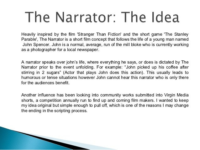 The Narrator Short Film Pitch