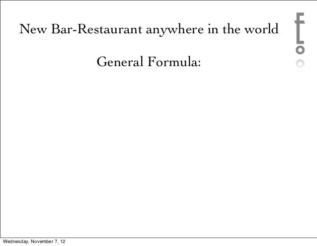 What makes a Restaurant or Bar Work?