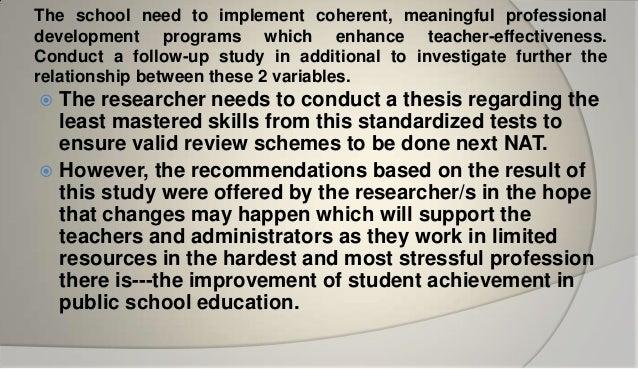 Thesis on teachers performance