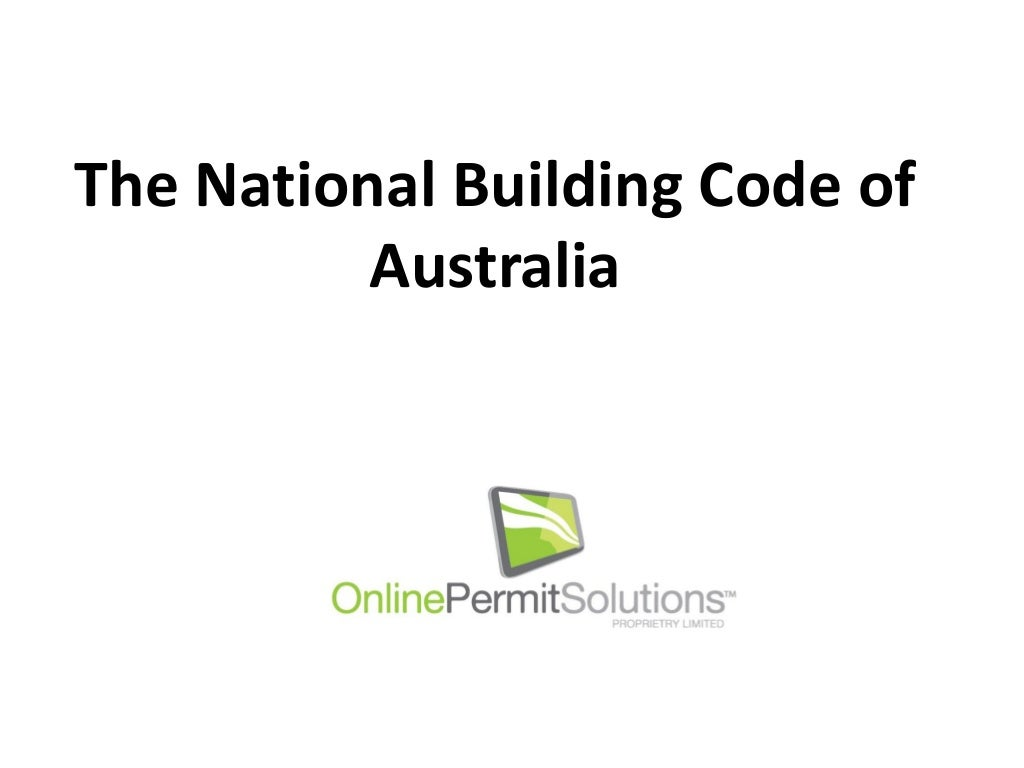 The National Building Code of Australia