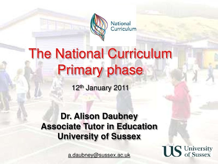Primary National Curriculum Training Slides